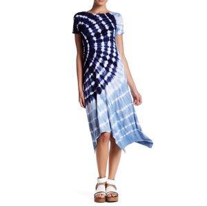 Cable & Gauge Boho Tie Dye Midi Length Dress